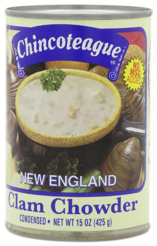 Chincoteague Seafood New England Clam Chowder, 15-Ounce Cans (Pack of 12)
