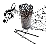 MKLOT Amazing Music Themed Stationery Pencils Music Pencils Music Pencil Pen- 60 Artist Music themed pencils party pack