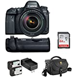 Canon EOS 6D Mark II DSLR Camera with 24-105mm f/4L II Lens, Canon BG-E21 Battery Grip, Journey 34 DSLR Shoulder Bag, LP-E6 Battery Pack & 64GB Memory Card