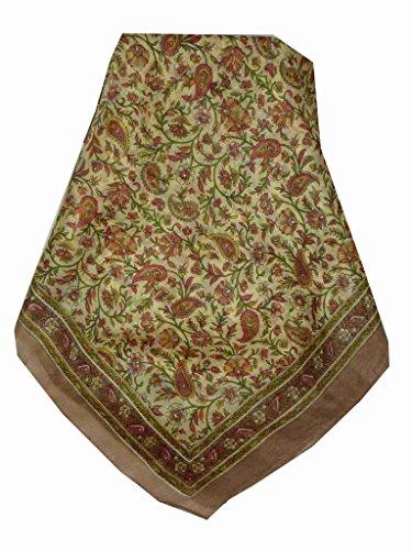 Foulard Gamme Traditional de Soie Motif Zain Caramel de Pashmina & Silk