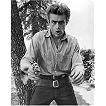 James Dean Wearing Holster Pointing Gun at Camera 8 x 10 Inch Photo