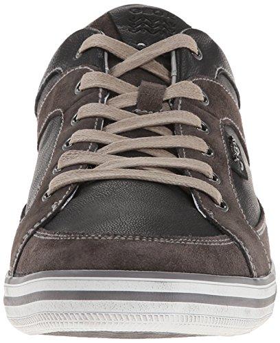 Uomo mudc9355 Sneaker top D black Low schwarz Nero Geox Box U Y64vTqxn
