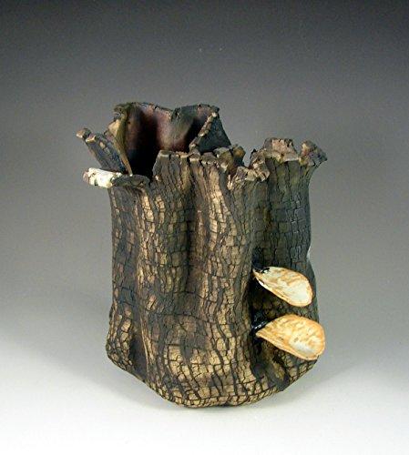 """Pottery Sculpture Centerpiece – Ceramic Art -""""Forest Fungus II"""""""