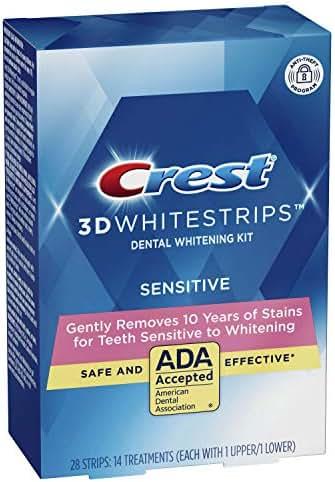 Whitening Strips & Gel: Crest 3D White Gentle Routine
