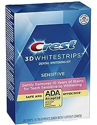 Crest 3D White Whitestrips Gentle Routine Teeth Whitening Kit, 14 Treatments, New Version