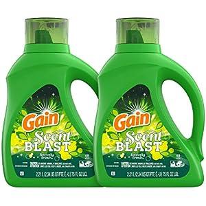 Gain Scent Blast Liquid Laundry Detergent, Fiercely Fresh, 150 Fl Oz, 96 Loads, 2 Count
