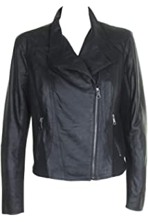 be5a4a47455092 Marc New York by Andrew Marc Women s Feather Leather Moto Jacket at ...