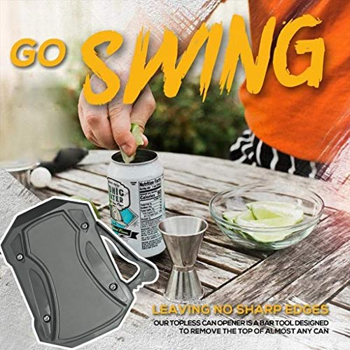 MiMiey Go Swing Topless Dosenöffner Bar Tool, Safety Easy Manual Dosenöffner, für die Handbuch Dosenöffner Professionelle Mühelose Öffner Haushaltsküchenwerkzeug (Grau)
