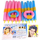 Magic Hairstyle Design Kits - 12XSoft Twisty Foam Benders Twist Safe Hair Dressing Curlers Bendy Curly Rollers Easy to Use