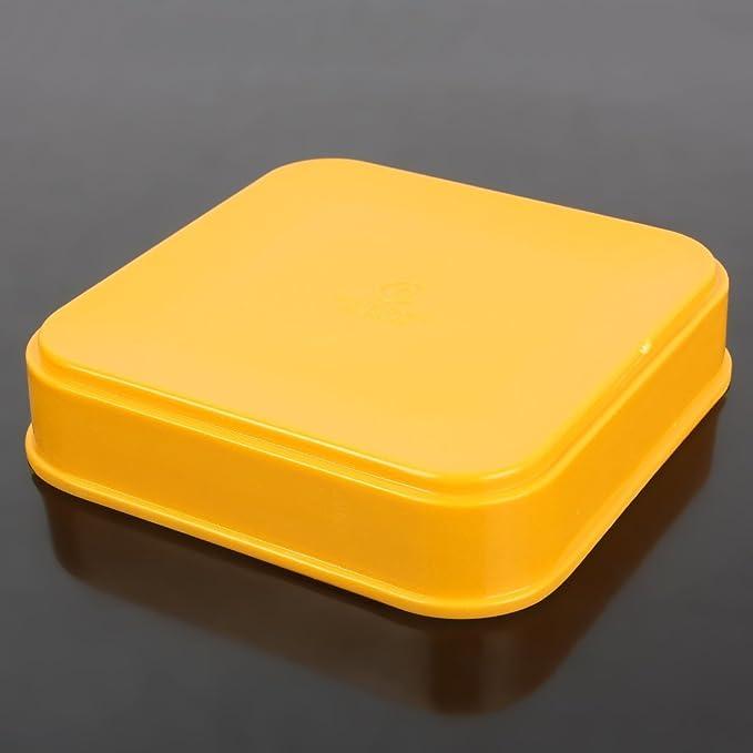 Amazon.com: Plaza de plástico eDealMax Ensalada forma de bandeja del plato Pot Placa Amarilla: Kitchen & Dining