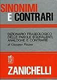 Sinonimi e Contrari, Giuseppe Pittàno, 8808030709