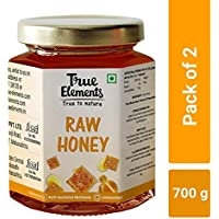 True Elements Raw Honey, 350g, (Pack of 2)