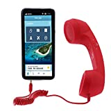 Retro Handset, UEB Retro Anti-radiation Telephone Phone Call Receiver 3.5 MM Socket Handset … (Red)