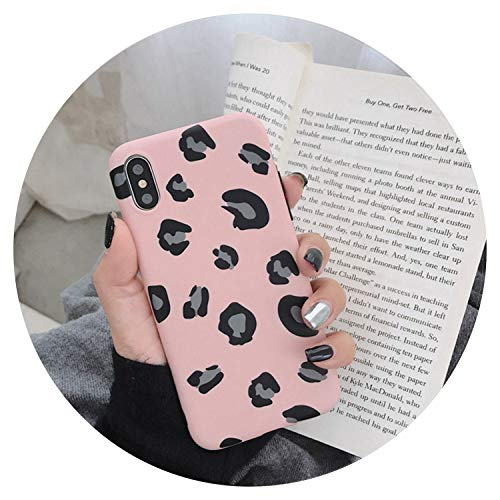 Fashion Leopard Print Phone Case for iPhone Xs Max XR X Case for iPhone 6 6s 7 8 Plus Back Cover Luxury Soft Cases Colorful Capa,Pink,for ()