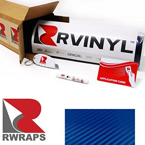 N FIBER 5ft x 1ft W/ Application Kit Vinyl Vehicle Car Wrap Film Sheet Roll (3 Carbon Fiber Hood)