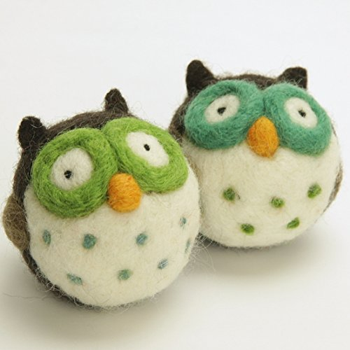 Woolbuddy Needle Felting Kit Owl - Arts and Crafts Wool Kit for Decorations, Ornaments or Family Projects - Fun, Easy, Rewarding.