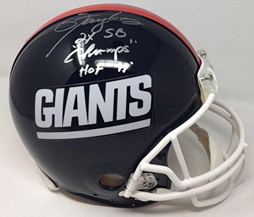 - LAWRENCE TAYLOR Signed/Inscribed Giants Proline HOF Helmet STEINER LE 56