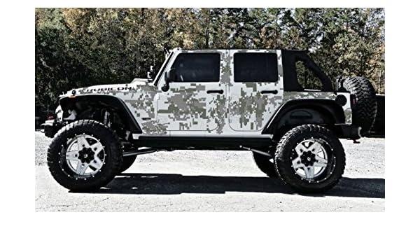 c30790ca Amazon.com: Digital Camo-4 Door-Vinyl Decal Set for Jeep Wrangler,  Vehicles, Custom Graphics: Everything Else