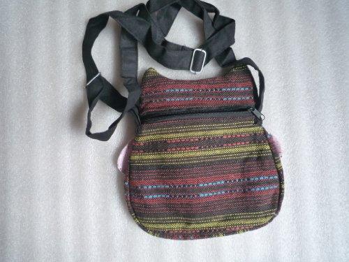 Kleine Umhängetasche im lustigen Eulen Design aus Baumwolle