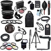 Canon XSI/450D XT/350D XTI/400D Digital SLR Deluxe Camera Accessory Bundle (Fits: EF 50MM F/1.4 USM, EF 85MM F/1.8 USM, EF 75-300MM F/4-5.6 IS STM, EF-S 55-250MM F/4-5.6 IS STM)