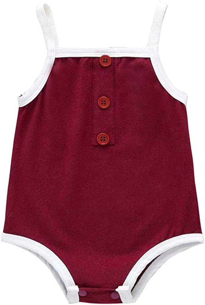 Arystk Baby Boys Girls Romper Newborn Infant Solid Bodysuit Clothes Outfits