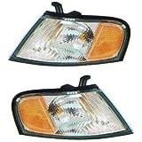 1998-1999 Nissan Altima Corner Park Light Turn Signal Marker Lamp Set Pair Right Passenger AND Left Driver Side (98 99)