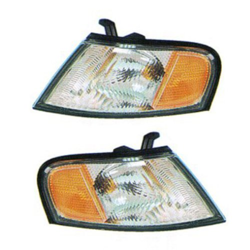 1998-1999 Nissan Altima Corner Park Light Turn Signal Marker Lamp Set Pair Right Passenger AND Left Driver Side (98 99)