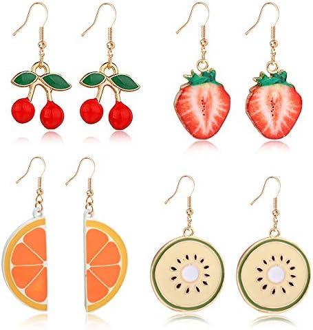 Cherry Earrings,Elegant Designer Fruit Earrings,burgundy earrings