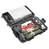 Boshiho Emergency Survival Kit Professional Outdoor Tools with Fire Starter ...