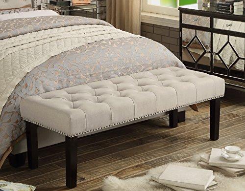 Rosevera C61 Almaraz Bench, Large, Beige (Foot Bed Bench)