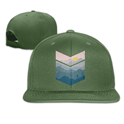 Yishuo Men Hiking Fashion Basketball ForestGreen Caps Hats Adjustable Snapback