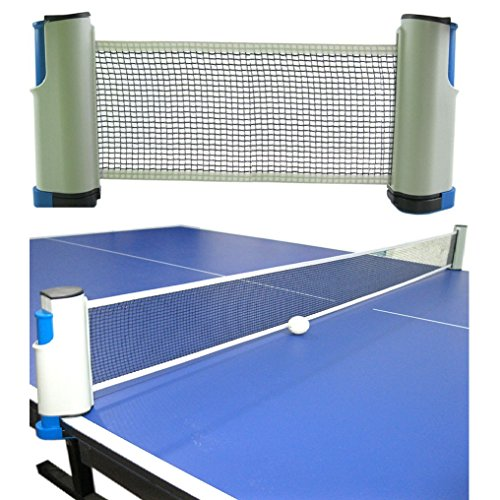 DerBlue Portable Retractable and Adjustable Table Tennis Net Rack/Replacement Ping Pong Net Accessory