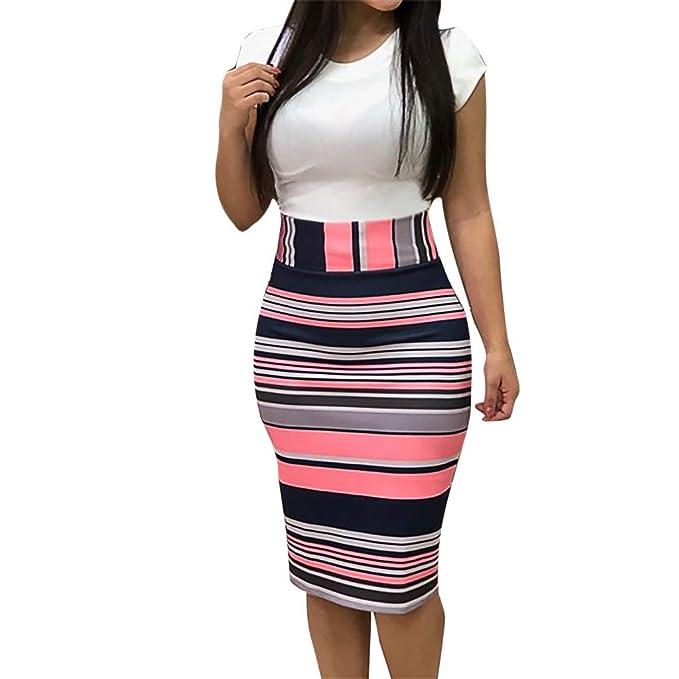 0bd7a18e0869 Longra❤ ❤ ☛☛ Vestidos Verano Mujer/Sexy Vestido de impresión ...