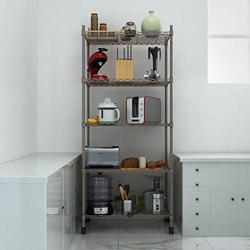 Kitchen Storage Units On Wheels: Homdox 5-Shelf Shelving Unit On Wheels Wire Shelves