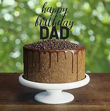 Astounding Custom Happy Birthday Dad Cake Topper We Love Dad Cake Topper Personalised Birthday Cards Veneteletsinfo