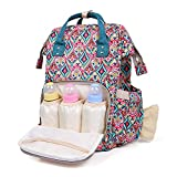 WARMHOL Diaper Bag Backpack, Large Capacity Waterproof Mommy Nappy Bag for Women Multifunction Travel Organizer with Stroller Straps