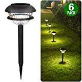 Brightown 6 Pack Solar Path Lights Solar Garden Lights Outdoor Auto On/Off Wireless Sun Powered Waterproof Outdoor Garden Lights for Lawn, Patio, Yard, Walkway, Driveway