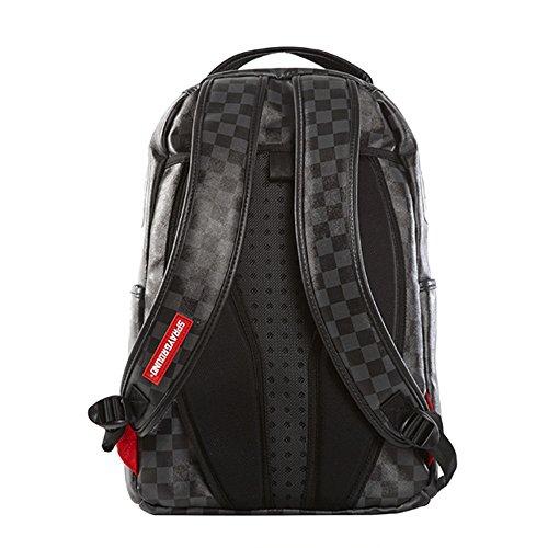 Sprayground Slime Shark Checkered Backpack - Black