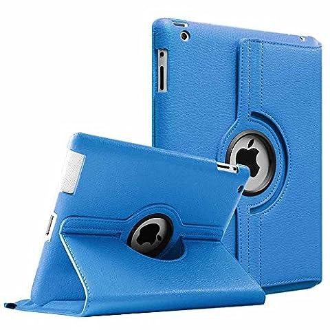 Fintie Apple iPad 2/3/4 Case - 360 Degree Rotating Stand Smart Case Cover for iPad with Retina Display (iPad 4th Generation), iPad 3 & iPad 2 (Automatic Wake/Sleep Feature) - (Ipad Generation Case)