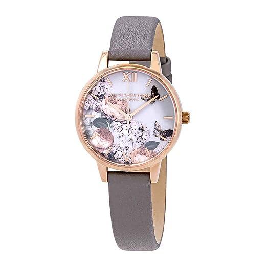 Burton Analog Ob16eg67 Olivia Damen Uhr Mit Armband Leder Quarz Y7bf6vyg