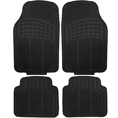 (OxGord 4pc Set Tactical Heavy Duty Rubber Floor Mats-)