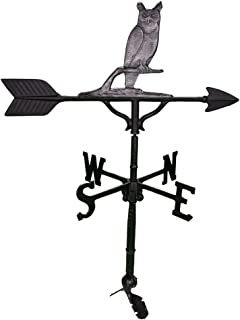 product image for Montague Metal Products 32-Inch Weathervane with Swedish Iron Owl Ornament