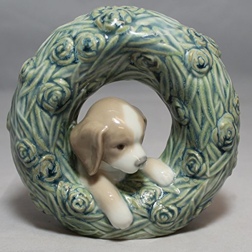 Lladro Figurine, 8071 Puppy, Natural Frames