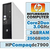 HP Compaq /Core 2 Duo E6750 @ 2.67 GHz/New 2GB Memory/250GB HDD/DVD-RW/No OS-(Certified Reconditioned) (Certified Refurbished)