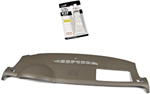 New for 07-14 Chevy Tahoe Avalanche Suburban GMC Yukon XL Denali / 07-13 Silverado LTZ Sierra SLT Molded Dash Cover Skin Cap w/Dash Speaker Holes in Cashmere