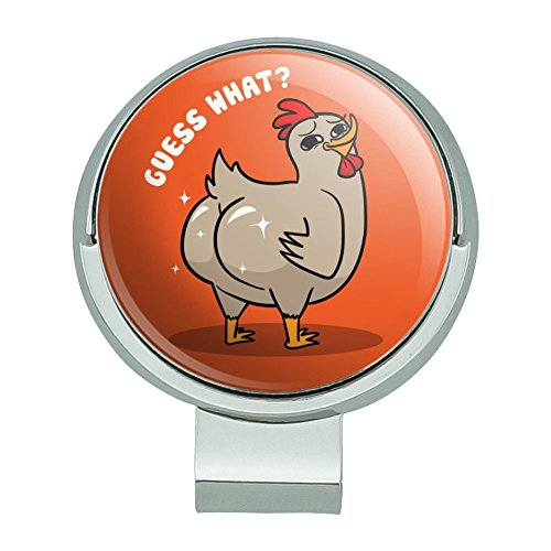 GRAPHICS & MORE Guess What Chicken Butt Funny Golf Hat Clip Magnetic Ball Marker ()