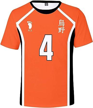Haikyuu!! Camiseta Cosplay Niñas Niños Streetwear Casual tee Top para Mujeres y Hombres: Amazon.es: Ropa y accesorios