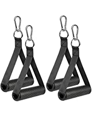 COYKIRK Resistance Bands Handles with TPR Waffle Grip, Heavy Duty Fitness Handles with Carabiners, Exercise Grips with Solid ABS Cores for Home Gym Strength Training Stretching, Upgraded