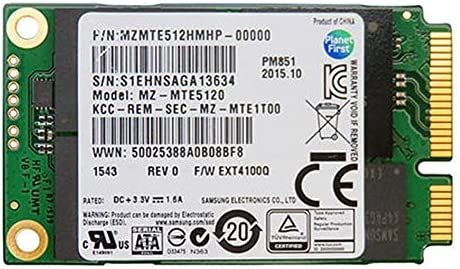 Original 512GB mSATA SATA III PM851 SSD Mini SATA Solid State Drive (Bulk, No Retail Packaging)