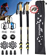 FREEMOVE Trekking Poles Collapsible, Lightweight Ultra Strong Aluminum 7075 Sticks for Hiking and Walking with